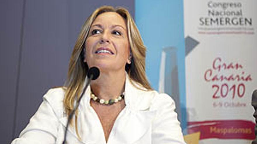 La ministra de Sanidad del Gobierno de España, Trinidad Jiménez. (ACN PRESS)