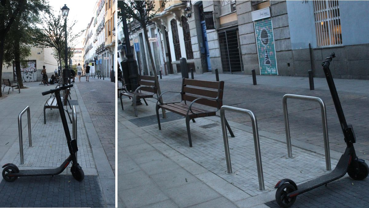 Bancos y aparcabicis instalados en la plazuela de la Memoria Trans | SOMOS CHUECA
