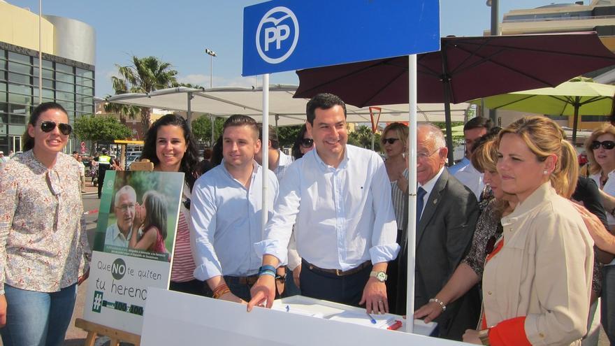 Acto del PP andaluz contra el Impuesto de Sucesiones.