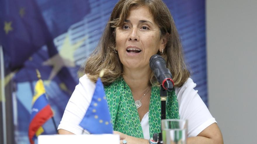 La embajadora de la Unión Europea (UE) en Venezuela, Isabel Brilhante.