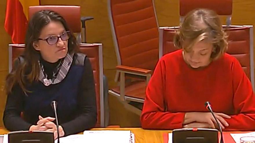 Mónica Oltra en la comisión de investigación que se celebra en el Senado