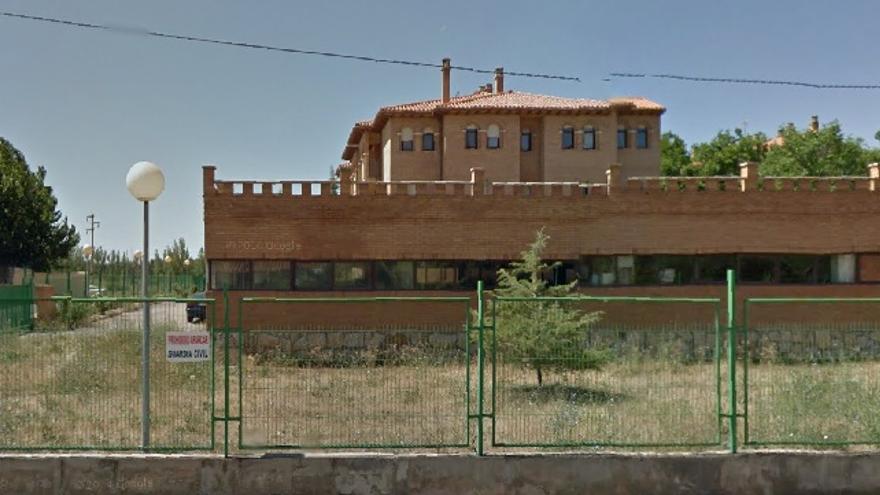 """Imagen de Google Maps correspondiente a la Avenida de Madrid número 11 (Teruel) en la que figura un """"solar"""" del Ministerio del Interior"""