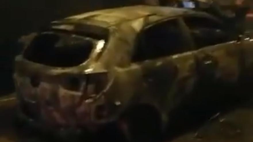 Incendio en un vehículo en Marzagán.