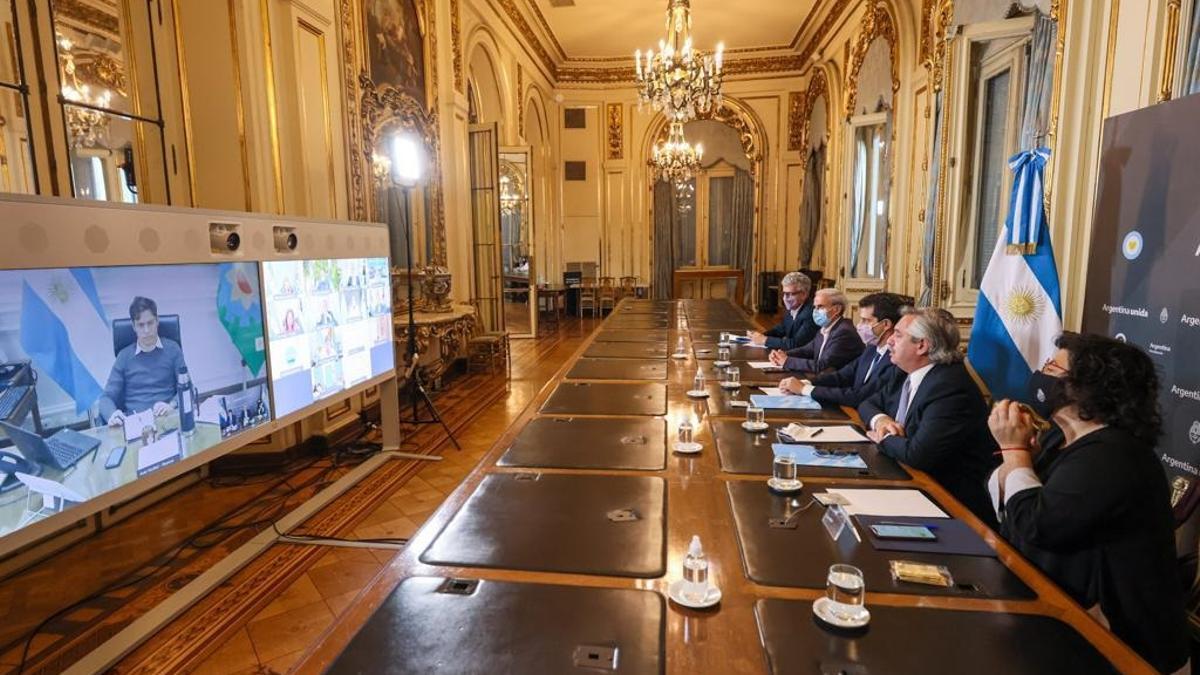 El presidente Alberto Fernández termina la ronda de consultas con gobernadores.