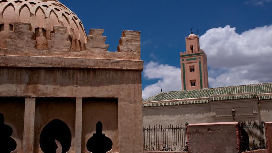 Cúpula de la Kouba El Baadyin, en la zona norte de la medina de Marrakech.