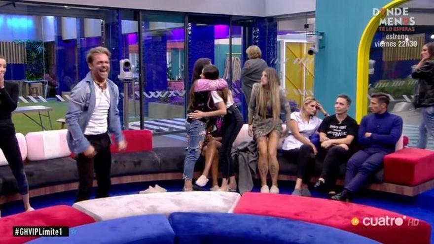 La audiencia de 'GH VIP 7' salva a Hugo y provoca el vómito de Mila Ximénez