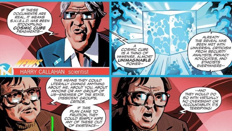 Viñetas de Capitán América con la aparición de Frank Marhuender