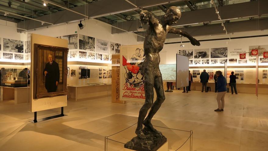 Un aspecte de l'exposició titulada Das rote Wien 1919-1934