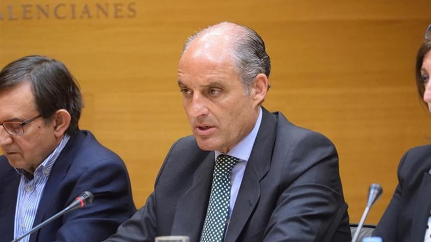 El expresidente de la Generalitat, Francisco Camps, durante su comparecencia en la comisión de Ciegsa