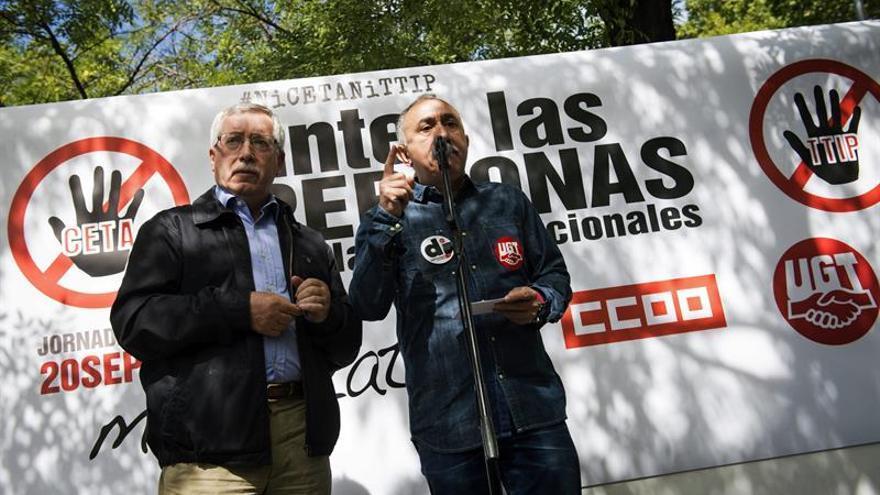 UGT y CCOO piden la paralización del TTIP y del CETA con una carta a Juncker