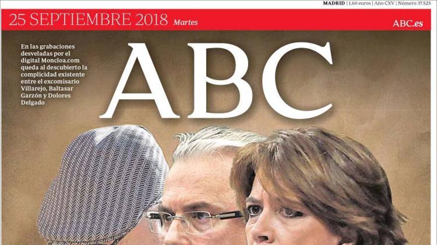 ABC. Portada 25/09/2018