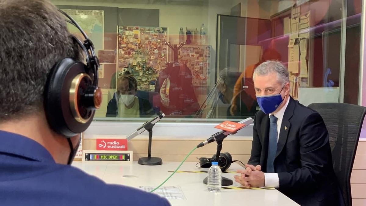 Urkullu, este lunes en Radio Euskadi con el periodista Xabier García Ramsden