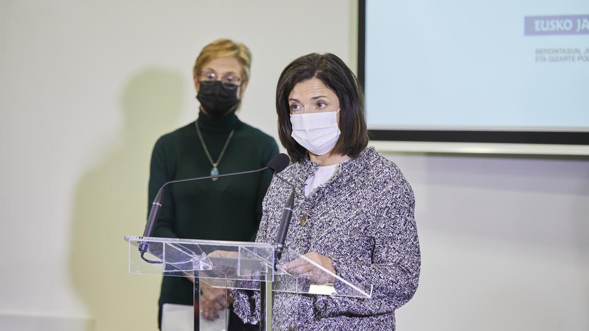 La consejera de Igualdad, Justicia y Políticas Sociales, Beatriz Artolazabal, en la presentación de este jueves