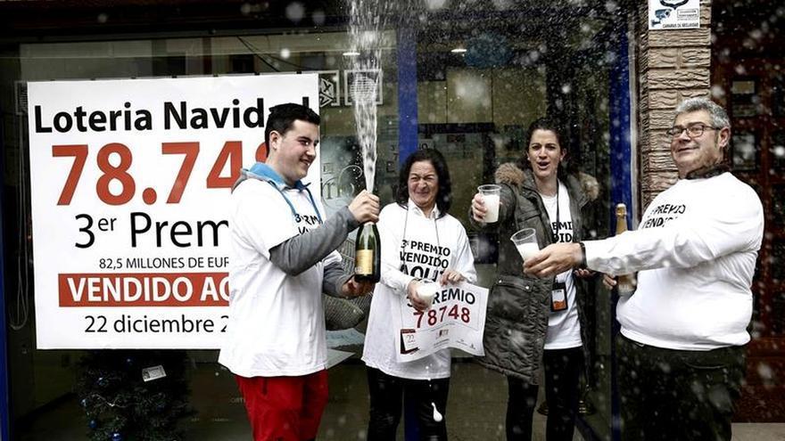 Navarra se queda con el tercer premio, 78.748, que también viaja a Calahorra