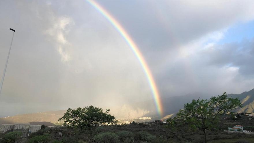 Lluvias persistentes débiles a moderadas  este domingo en La Palma