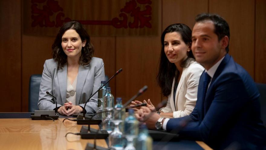Reunión a tres entre PP, Ciudadanos y Vox en Madrid. / PP