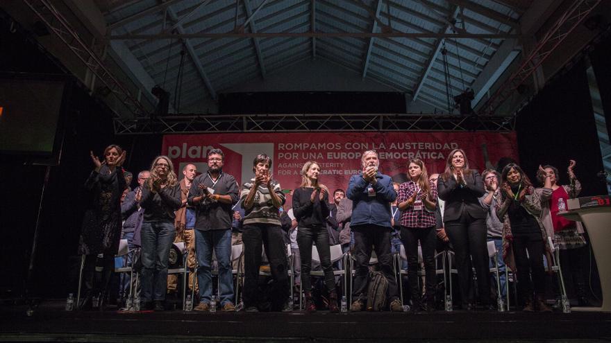 Un momento del acto inaugural de las jornadas que organiza el movimiento Plan B / Olmo Calvo