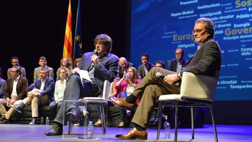 """Puigdemont y Mas apuestan por crear """"las Naciones Unidas de Europa"""" con Cataluña como miembro destacado"""