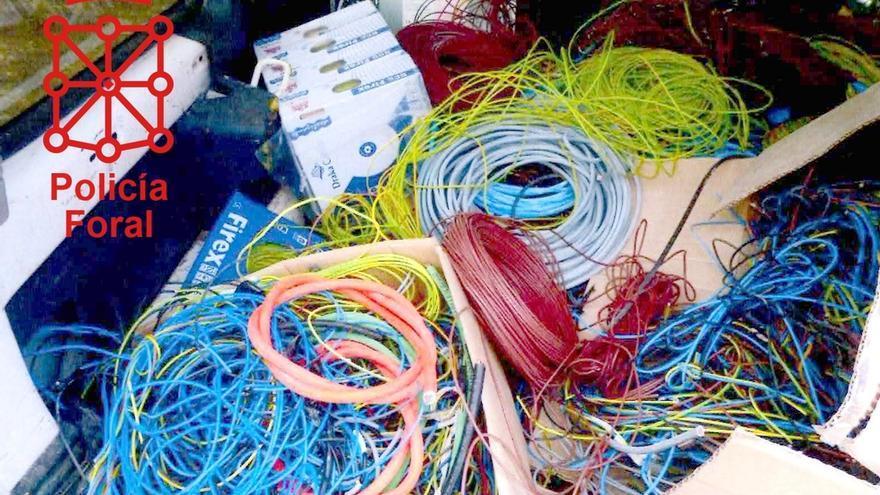 Dos detenidos como supuestos autores del robo de 5.000 metros de cable en un edificio en obras en Pamplona