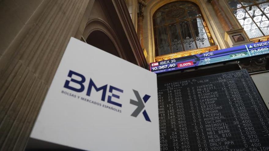 La Bolsa española cotiza plana a mediodía, con una ligera subida del 0,06 por ciento