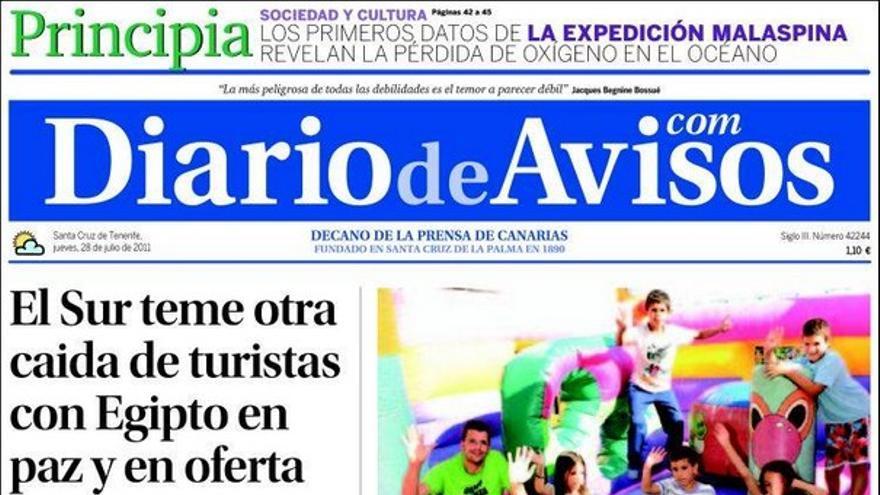 De las portadas del día (28/07/2011) #3