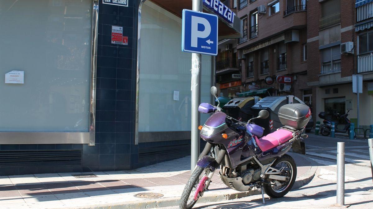 Imagen de archivo de una motocicleta