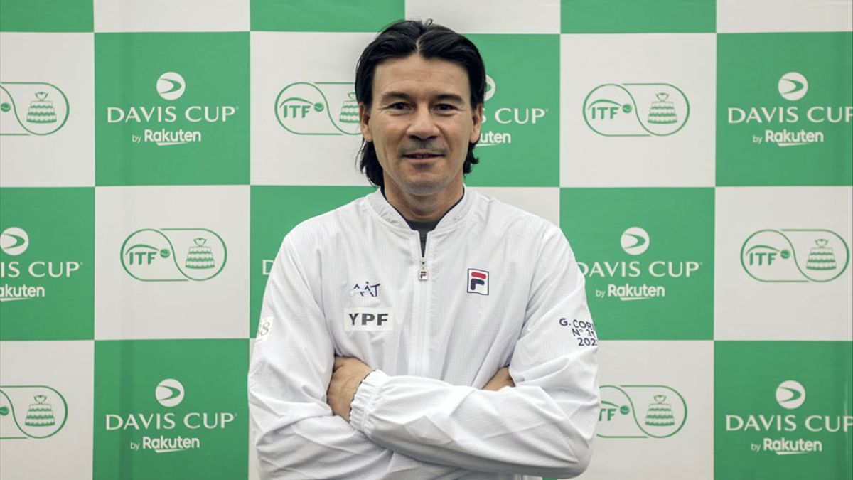 Guillermo Coria, nuevo capitán del equipo argentino de Copa Davis.