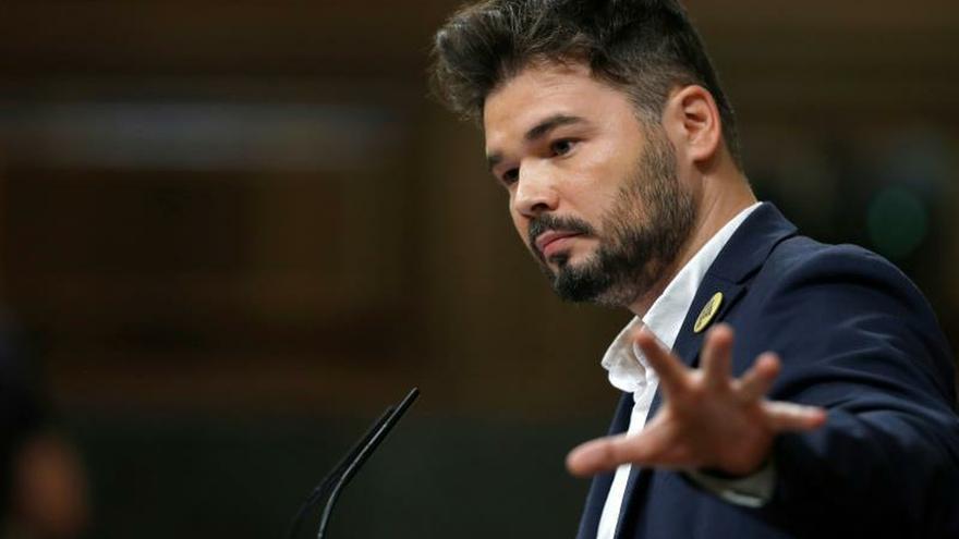 """Rufián, sobre la propuesta de Torra: """"No venderemos humo ni magia"""""""