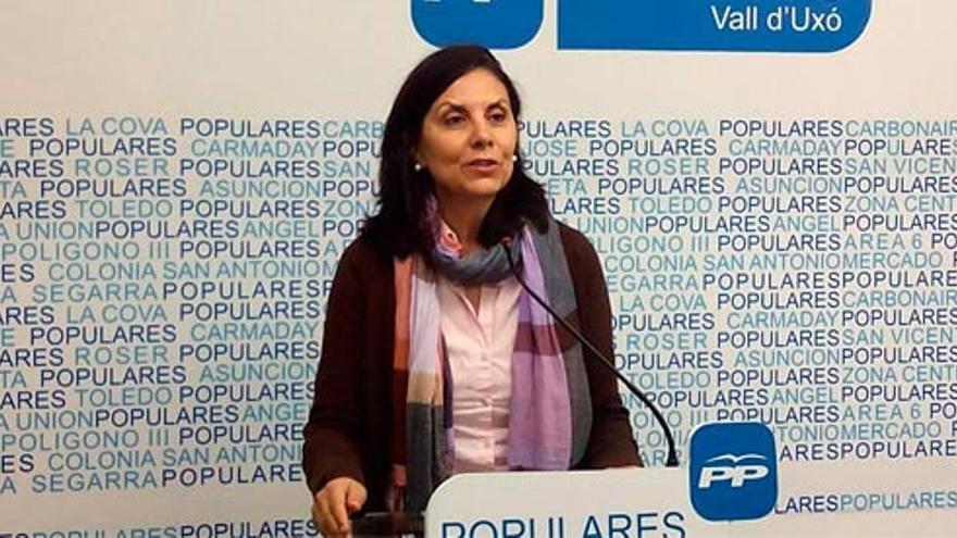 La concejala popular Yolanda González, durante una rueda de prensa