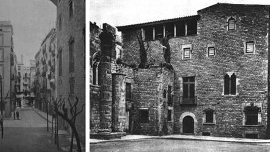 La Casa Padellàs, que va ser enderrocada per la construcció de la Via Laietana, va substituir a un edifici d'habitatges a la cantonada de la plaça del Rei