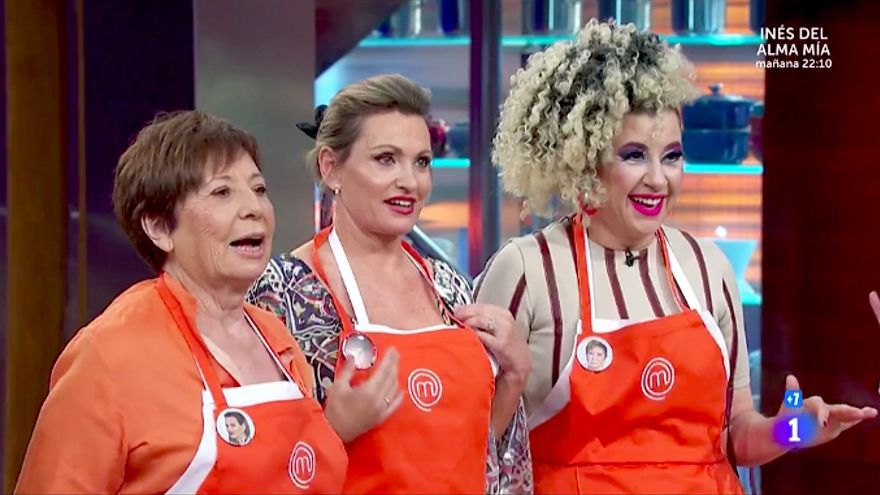 Celia Villalobos, junto a Ainhoa Arteta y la Terremoto en Masterchef Celebrity 5