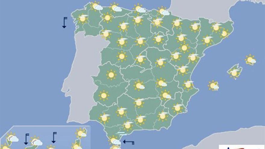 Mañana, mucho calor sobre todo en el nordeste y en la mitad sur peninsular
