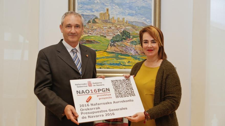El Parlamento recibe el proyecto de Presupuestos Generales de Navarra para 2016