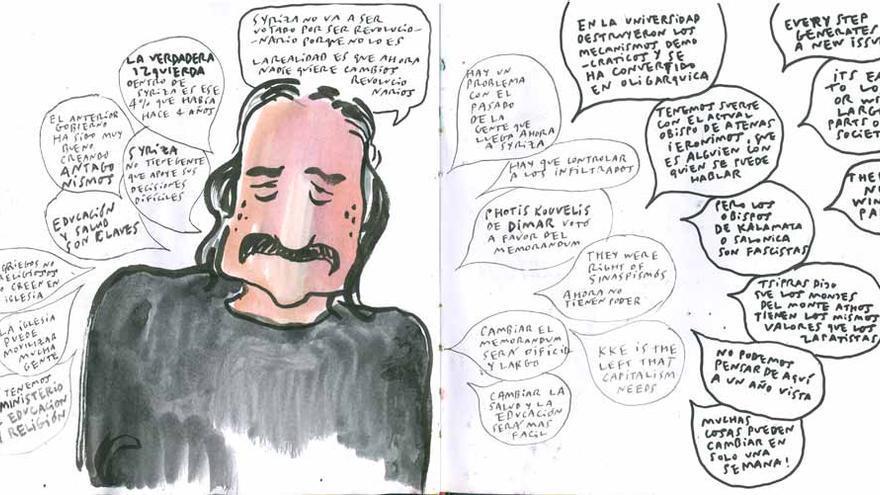 Conversación en Atenas, Enrique Flores (4ojos.com/blog)