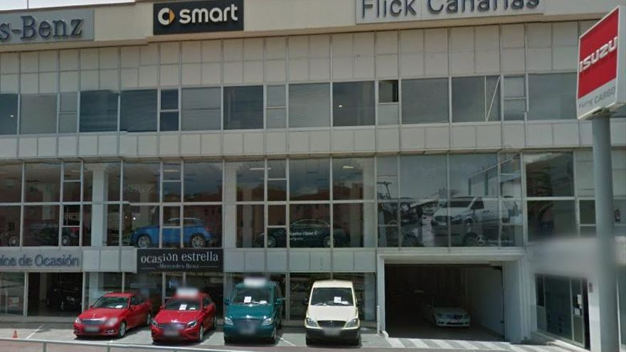 Vista de concesionarios del Grupo Flick en Las Palmas de Gran Canaria (GOOGLE IMÁGENES)