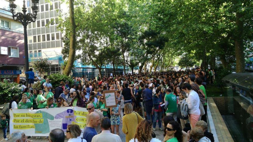 Manifestación docente en Santander.