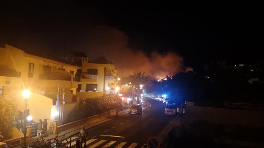 Incendio en Valle Gran Rey, La Gomera.