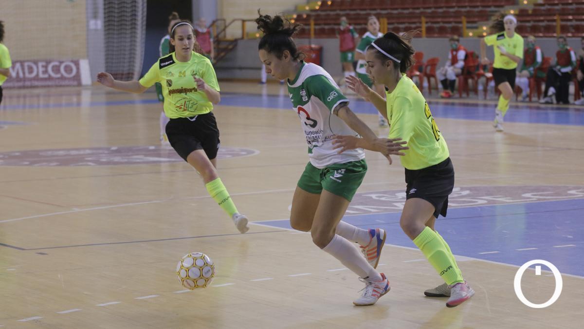 Lihuen Valcárcel, con el Deportivo Córdoba en Vista Alegre.
