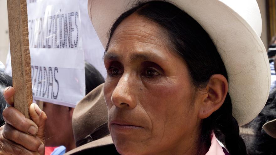 Imagen tomada en una manifestación por las víctimas de las esterilizaciones forzadas en Lima/ Foto: Pablo Pérez