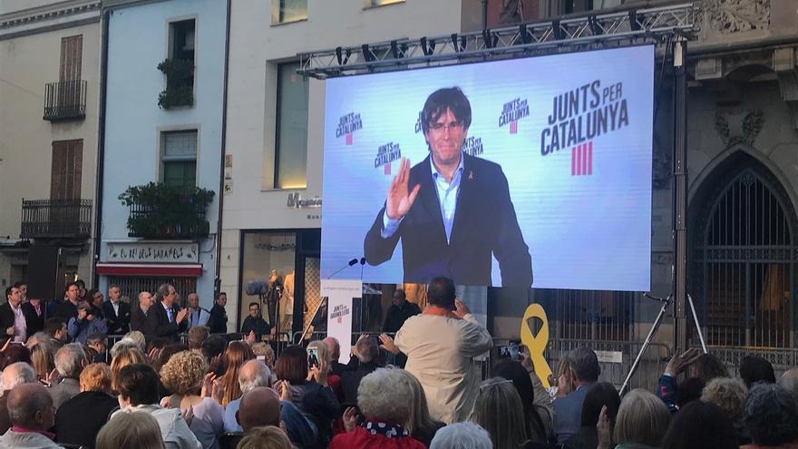 "Puigdemont (JxCat) pide no fallar para que la UE escuche a ""la Cataluña del 1-O"""