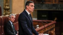 Pedro Sánchez durante su intervención en el Congreso.
