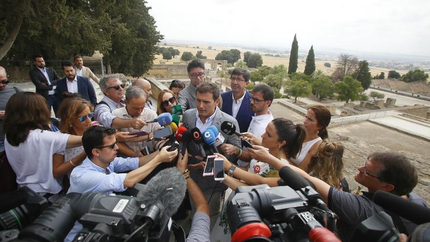 """Rivera no pierde la """"esperanza"""" de que el PSOE-A """"rectifique"""" para mantener el pacto con Cs en Andalucía"""