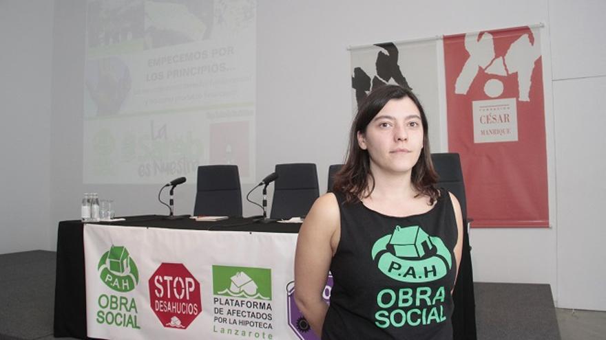 Aida del Valle, miembro de la Obra Social de la Plataforma de Afectados por la Hipoteca.
