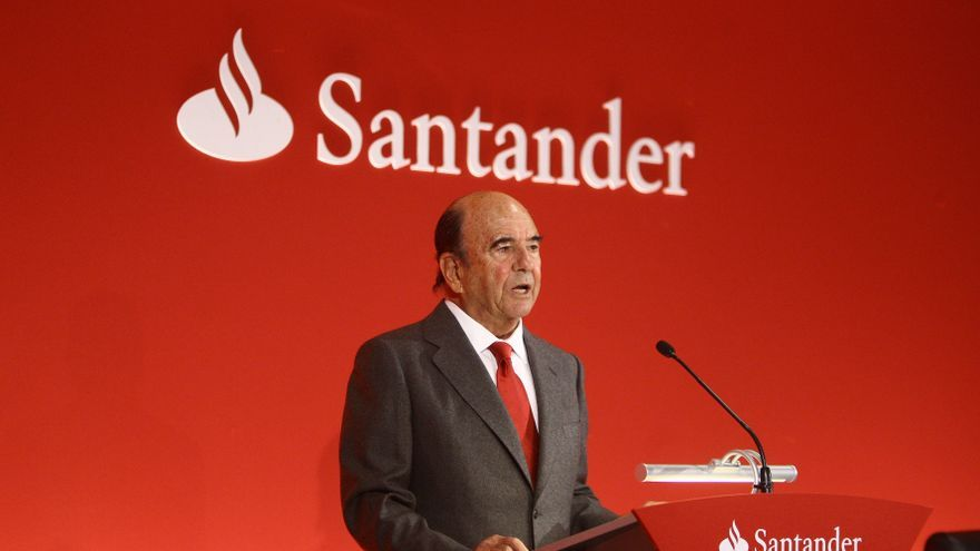 El presidente del Banco Santander, Emilio Botín