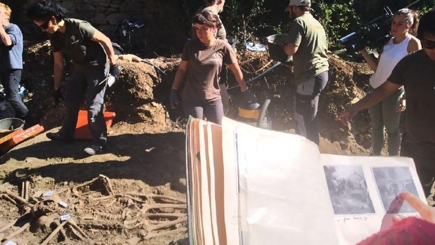 Exhumación en Ollacárizqueta: hallan a 16 fusilados más