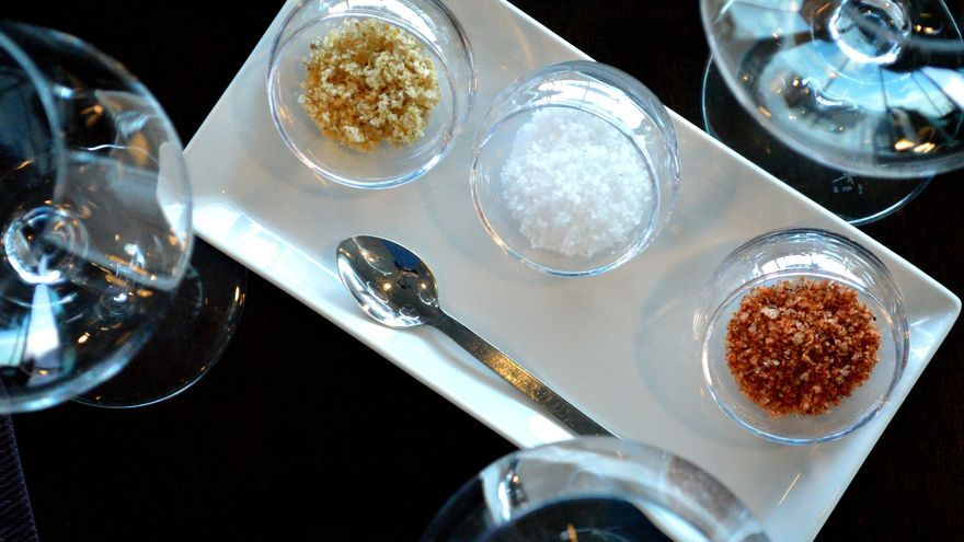 La sal tiene un especial protagonismo en el restaurante temático.