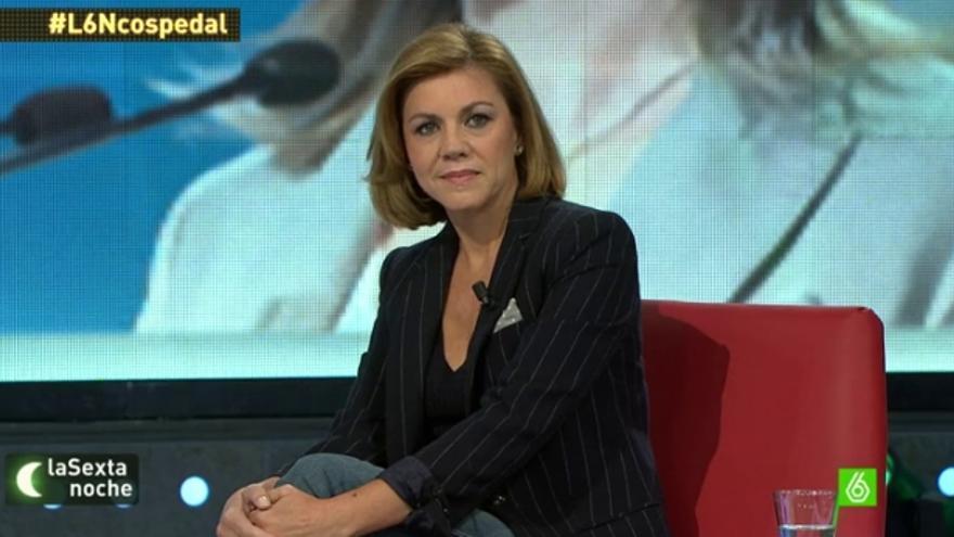 María Dolores de Cospedal, en La sexta noche / LaSexta