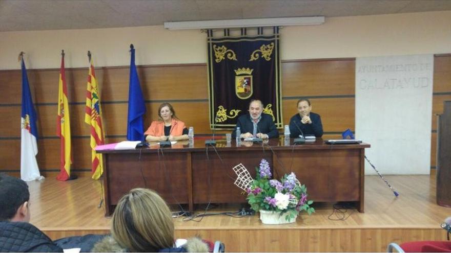 En el centro el alcalde de Calatayud, José Manuel Aranda.