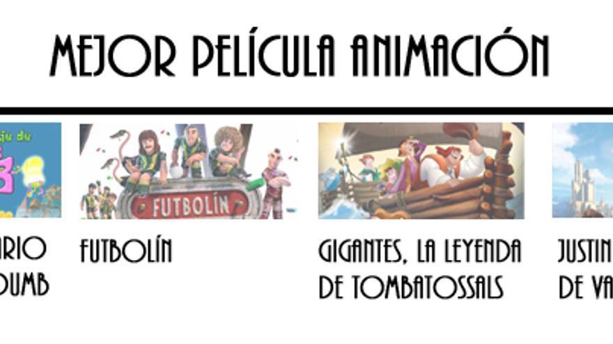 Nominadas a Mejor Película de Animación