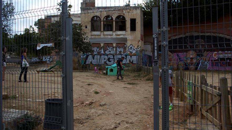 Solar en el barrio barcelonés de Vallcarca
